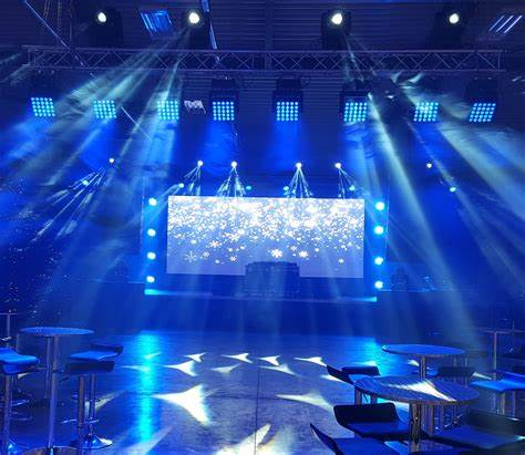 stage with led screen music concert