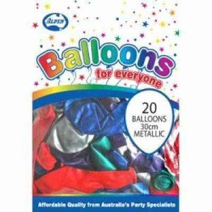 Metallic Mixed 30cm Balloons (20 Pack)