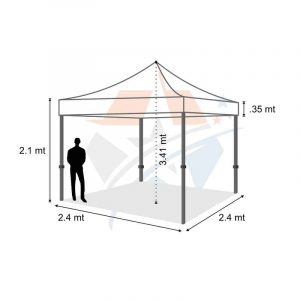 POP UP Marquee with White PVC Roof 2.4M X 2.4M Hire