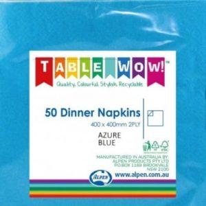 Paper Dinner Napkin Blue (50 Pack)
