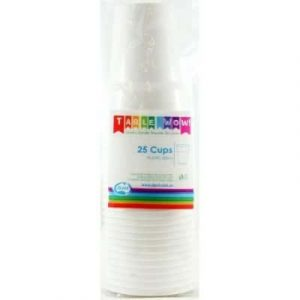 Plastic Cup White (25 Pack)