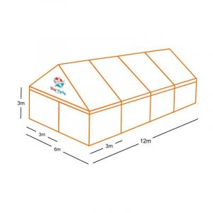 Free Standing Clear Marquee Hire 6M X 12M