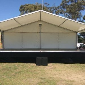 10mx6m Marquee Cover for Outdoor Stage Hire