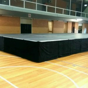 9.6mx7.2m Stage Hire