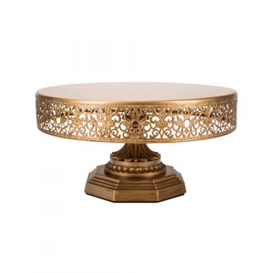 Gold Cake Stand Hire (30cm)