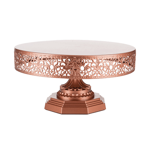 Rose Gold Cake Stand Hire (30cm)