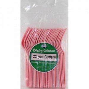 Plastic Knives Light Pink (25 Pack)