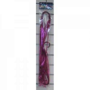 Metallic Pre Cut & Clipped Ribbon Pink (25 Pack)