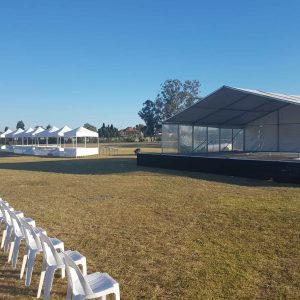 10mx9m Marquee Cover for Outdoor Stage Hire